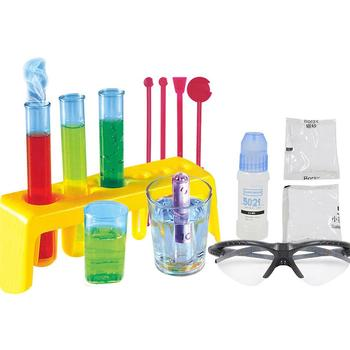 Science Experiment Kit Goggles DIY Chemistry Lab Teaching Equipment Toy Physical Early Learning Educational Toys For Children flashlight lab toy education series physics generator children experiment circuit teaching science projects for kids stem toys