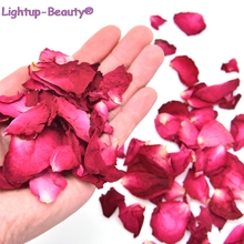 100g / 200g Dried Rose Petals Natural Dry Flower Fragrant Bath Spa Whitening Bath Beauty Body Foot Skin Care Wedding Supplies