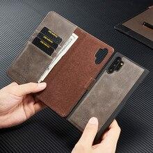 Pour Samsung Galaxy S20 S8 S9 + S10 A51 Note 20 10 + support de livre en cuir portefeuille détachable magnétique 2 en 1 carte amovible housse