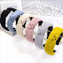 Hair-Accessories Knot Headband Bohemian Colored Vintage Winter Woolen