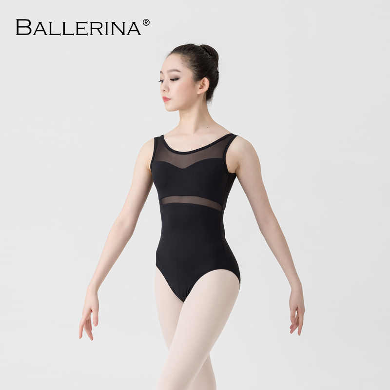 ballet leotard women Dancewear Professional training gymnastics leotard Sexy Mesh stitching  Ballerina 5672