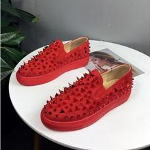 Foot-Shoes Sports Men Casual Women Rivet-Cover Heavy-Soled A7 And American Red European
