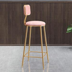 Nordic light luxury bar chair ins simple net red bar stool front desk cafe restaurant leisure back high stool(China)