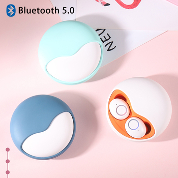Wireless Earphone Bluetooth 5.0 Tws 3d Stereo Sound Earbuds Auto Connect Hands Free Phone Call Mini Bass Headphones