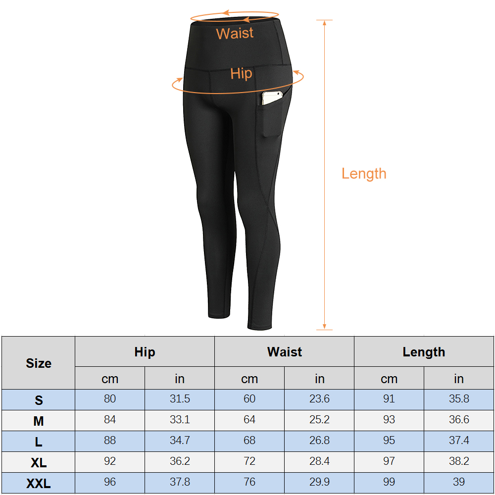 Woman High Waist Yoga Pants Quick-dry Sports Pants Yoga Leggings Workout Pants with Pocket Light Blue XXL Running pants 9