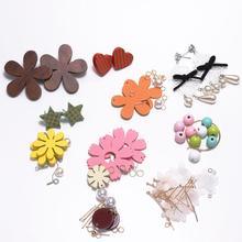 New style Flowers Infinite Symbol Stud Earrings Set DIY Jewelry Package imitation Pearl Earrings For DIY Jewelry Making Findings