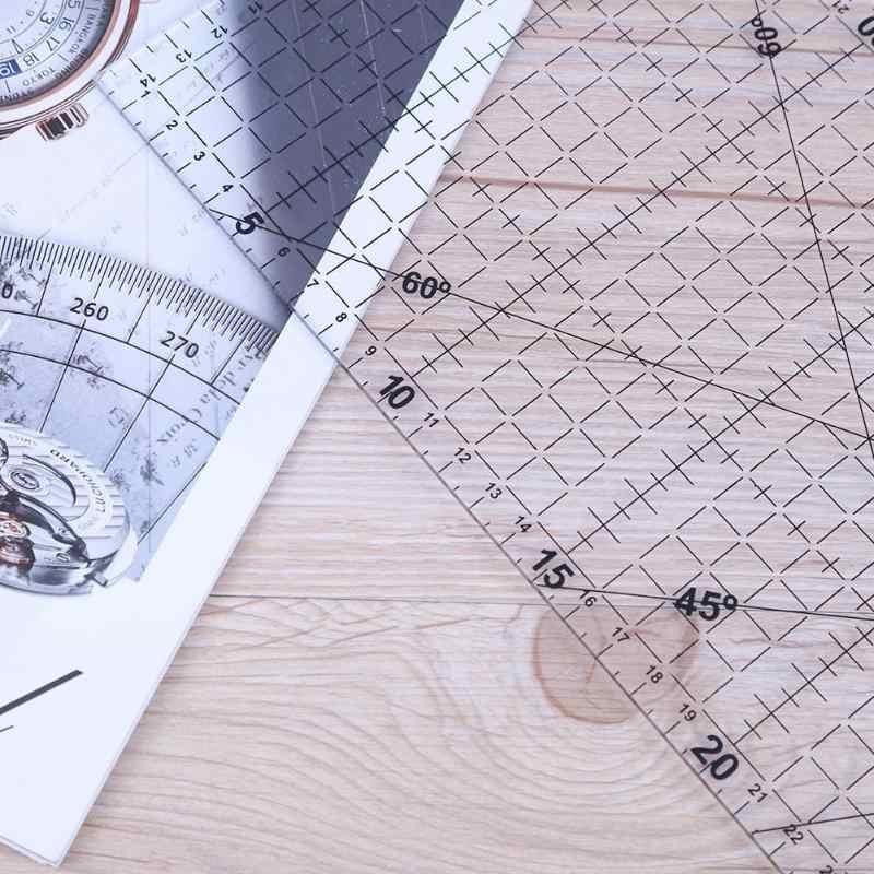 30x15 cm tamanho grande grosso triângulo pano retalhos costura diy ferramenta régua ferramentas para medição, desenho e costura 2020 venda quente
