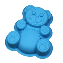 New Silicone Bear Shape Cake Mold Dessert  Baking Kitchen Tool
