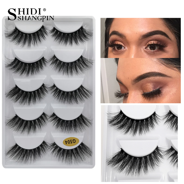 5 Pairs Natural long Eyelashes Makeup False Eyelashes Full Strip Lashes Mink Eyelashes Thick 3d Mink Lashes maquillaje faux cils 1