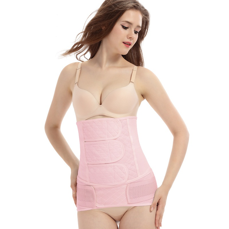 2 Pieces Set Postpartum Bandage Support Prenatal Care Cotton Athletic Bandage Maternity Abdomen Pelvis Reducing Shapewear Belt