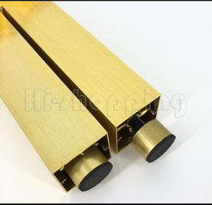 Image 5 - 4pcs Metal Furniture Legs Brushed Gold 6 8 10 12 15 18 20CM for TV Cabinet Bathroom Cupboard coffee table Dresser Armchair feet