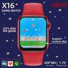 Original smartwatch 2021 X16 reloj inteligente 1,75 Bluetooth llamada de reloj 6 pk iwo 12 AK76 X7 HW12 HW22 HW16 G65L W26 P8 X6