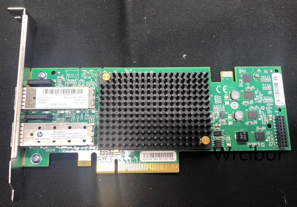 HP NC552SFP 10gb 2-Port Ethernet Server Adapter 614203-b21 614506-001 614201-001