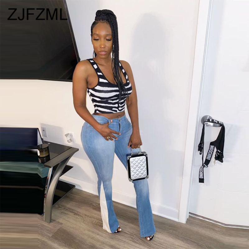Vintage Distressed Skinny Jeans For Women High Waist Zipper Washed Denim Pencil Pants Streetwear Mujer Panelled Plus Size Jeans