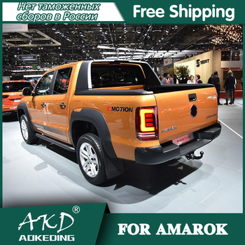 Tail Lamp For Car VW AMAROK Volkswagen 2010-2020 amarok Tail Lights Led Fog Lights DRL Day Running Light Tuning Car Accessories фото