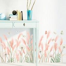 Autocollant Mural en forme de fleur de pissenlit, amovible, pour jupe de dortoir, décoration de chambre à coucher, autocollant d'art Mural de fond frais