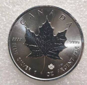 Canadian Maple Leaf Silver Coin 2016 999 Silver Old 100% Real Silver Original Coins Collectible Coin 10pcs lot 2016 australia 1 oz silver coin mint 1 oz 999 sliver australia wedge tailed eagle good quality copy sliver coin
