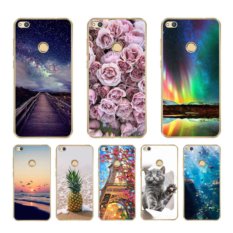 For Huawei P9 Lite 2017 Phone Case For Huawei P8 Lite 2017 Soft Silicone Cover For Huawei Honor 8 Lite TPU Back Case Protector