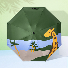 Giraffe Umbrella Pocket Rain Wholesale for Woman Folding