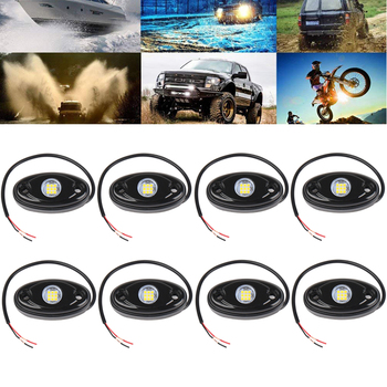 9W 2.75inch Led Rock Lights For Jeep Atv Suv Offroad Car Truck Boat Underbody Glow Trail Rig Lamp Underglow Led Neon Lights Wate image