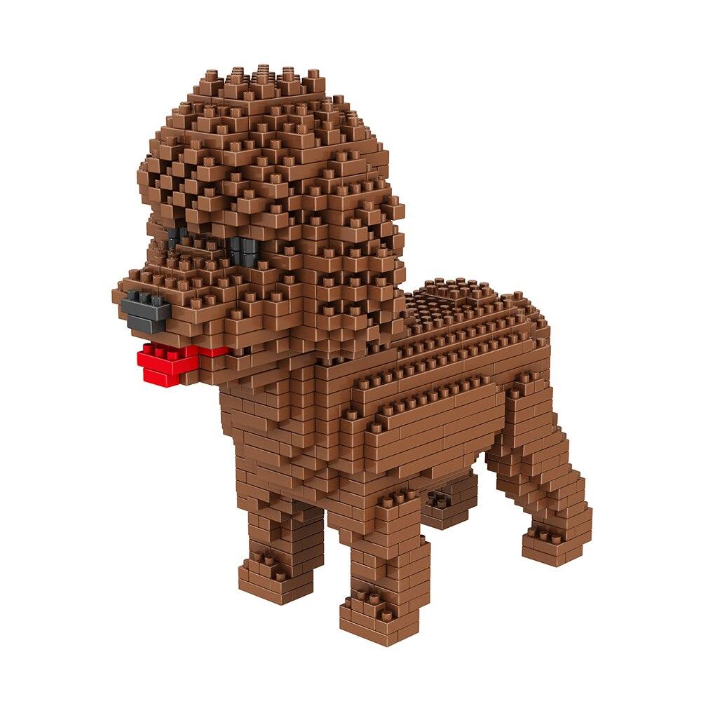 NEW Dog Building Blocks Mini Diamond Particles Blocks Bricks Husky Keji Teddy Compatible TOY  Creative DIY Children Toys Block