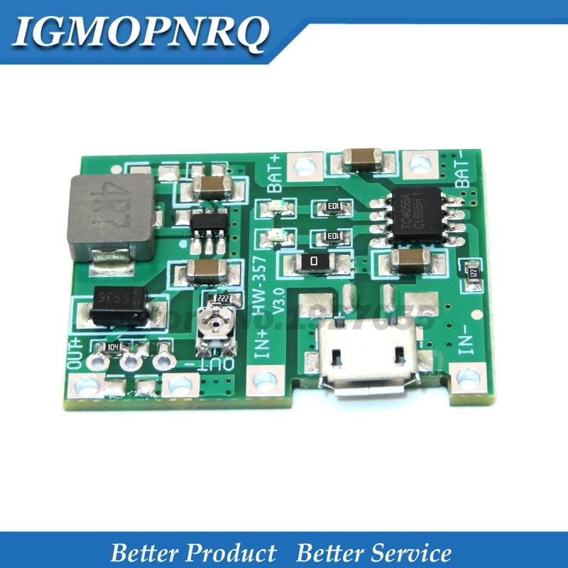 Lithium Li-Ion 18650 3,7 V 4,2 V Batterie Ladegerät Bord DC-DC Step Up Boost Modul TP4056 DIY Kit Teile