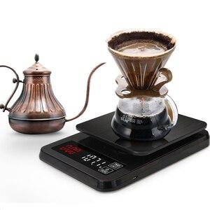 Image 4 - Balança eletrônica de precisão, para cozinha, 5kg/0.1g, 10kg/1g, lcd, digital, balança de café com gotejamento balança doméstica com temporizador de peso