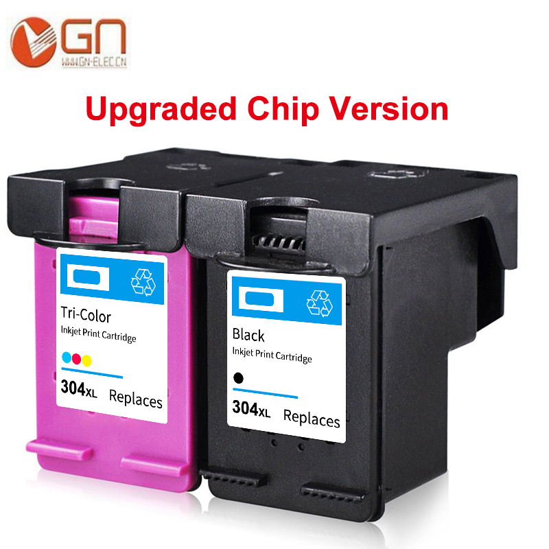 GN 304xl new version chip ink cartridge for <font><b>HP</b></font> Deskjet 2620 2630 2632 5030 5020 5032 3720 3730 5010 printer for <font><b>hp</b></font> <font><b>304</b></font> 304XL image