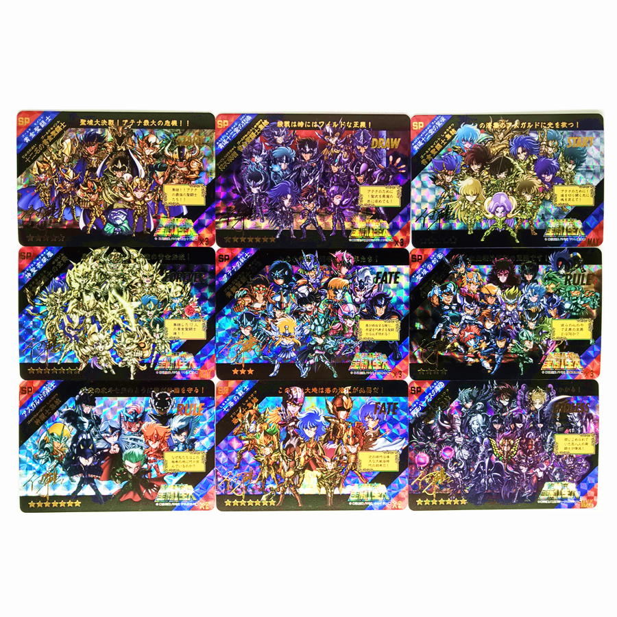 22pcs/set Saint Seiya Soul Of Gold Special Limited Edition Bronzing Toys Hobbies Hobby Collectibles Game Collection Anime Cards