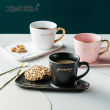 Mugs Saucer-Set Coffee-Utensils Coffic Gold-Spoon Creative And 260ML Environmental-Protection