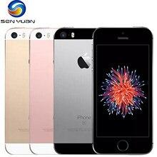 Apple-teléfono inteligente iPhone SE, teléfono móvil libre con dual core, 2GB RAM, 16GB/32GB/64GB/128GB ROM, pantalla de 4 pulgadas, reconocimiento de huella, iPhone original usado, versión A1662/A1723