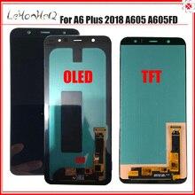A6 زائد عرض لسامسونج A6 زائد 2018 A605 مجموعة المحولات الرقمية لشاشة تعمل بلمس لسامسونج غالاكسي A605 A605F A605FD LCD