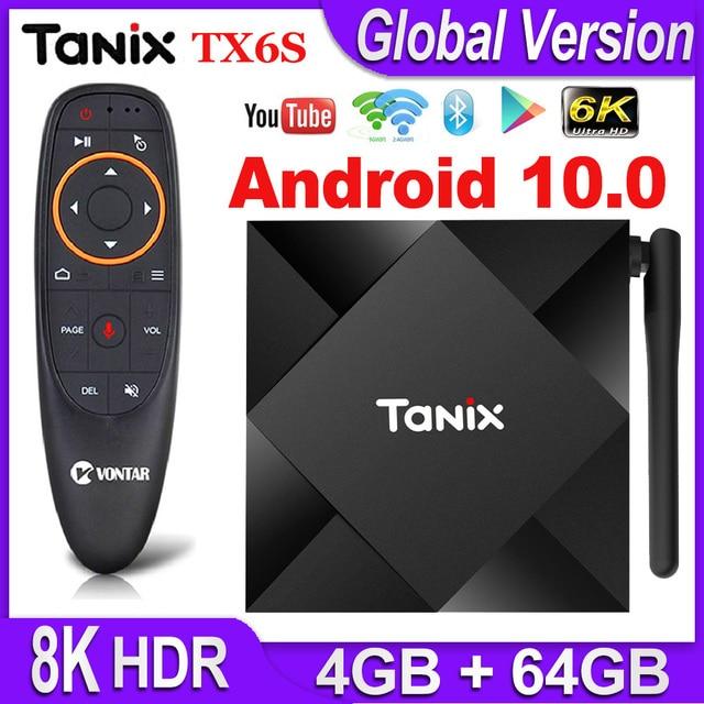 Tanix TX6S אנדרואיד 10 טלוויזיה חכם Allwinner H616 Quad Core אנדרואיד טלוויזיה תיבת H.265 4K מדיה נגן pk T95 אנדרואיד 10.0