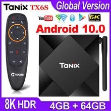 Tanix TX6S 안드로이드 10 TV 박스 스마트 셋톱 박스 Allwinner H616 쿼드 코어 안드로이드 TV 박스 H.265 4K 미디어 플레이어 pk T95 안드로이드 10.0