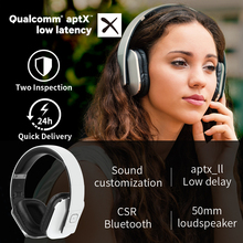 EP650 Bluetooth Wireless aptX ll Headphones with Mic/Multipoint/NFC Over Ear Bluetooth  Stereo Music Headset for TV,Phone