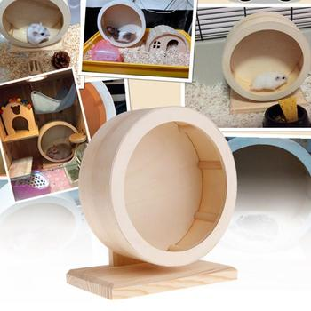 Wooden Mute Roller Hamster Running Exercise Wheel Mouse Hedgehogs Sports Wheel Pet Toy For Hamsters Mice And African Hedgehogs