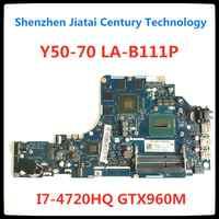 ZIVY2-placa base de LA-B111P para ordenador portátil Lenovo Y50-70, GTX960M, original y testado, notebook, prueba de 100%