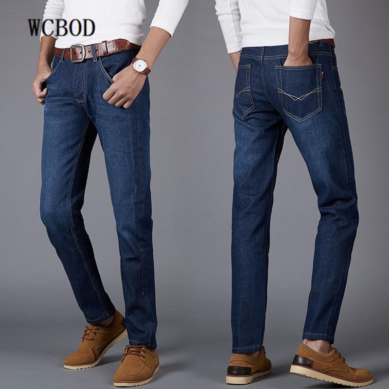 2020 New Business Jeans Men Classic Blue Straight Jeans Designer Brand Design Pocket Jean Hot Sales Pants Men