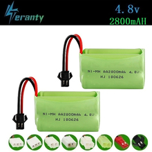 ( T Model ) 4.8v 2800mah NiMH Battery For Rc toys Cars Tanks Robots Boats Guns 4.8v Rechargeable Battery AA Battery Pack 2Pcs 2 pcs flexible pvc battery terminal covers positive negative insulation boots protector automobile for cars boats and trucks