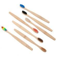 2 шт экологичный Бамбук Зубная щетка из древесного угля для ухода за полостью рта чистка зубов Экологичная здоровье средней жесткости/мягкие зубные щетки для волос