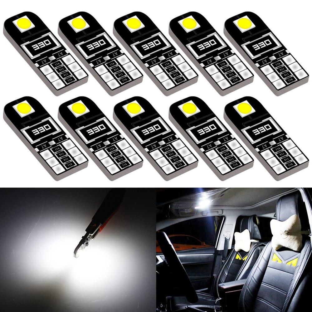 10 шт. W5W T10 Canbus автомобиля светодиодный лампы для Honda Civic 2018 2012 2006 2011 2008 номерной знак светильник Боковой габаритный фонарь лампа багажника 194 ...