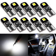 10 шт., Автомобильные светодиодные лампы W5W T10 Canbus для Misubishi Outlander Lancer 10 9 Galant ASX