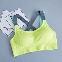Padded Tops Sports-Bra Gym Fitness Yoga Women Brassiere Cross-Strap Back Quick-Dry Running