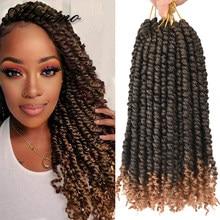 Alitomo pré-torção da paixão tranças de crochê 12 Polegada senegalês primavera bomba torção extensões de cabelo de crochê para mulheres raízes