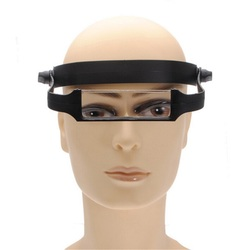 1PCS Magnifier Magnify Glass Lens loupeHead Headband Replaceable Lens Loupe made of optical glass 1.6x2.0x 2.5x 3.5x top quality