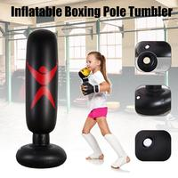 Fitness Venting Toy Hit Sandbag Black Three   Dimensional PVC Thickening Children Inflatable Column Tumbler Pillar Fight Column|Personal Care Appliance Parts|   -