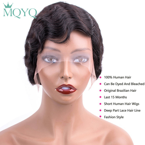 Image 3 - Beaudiva Short Bob Lace Human Hair Wigs For Women Brazilian Ocean Wave Remy Human Hair Wigs No Smell Lace Wigs For Black Women