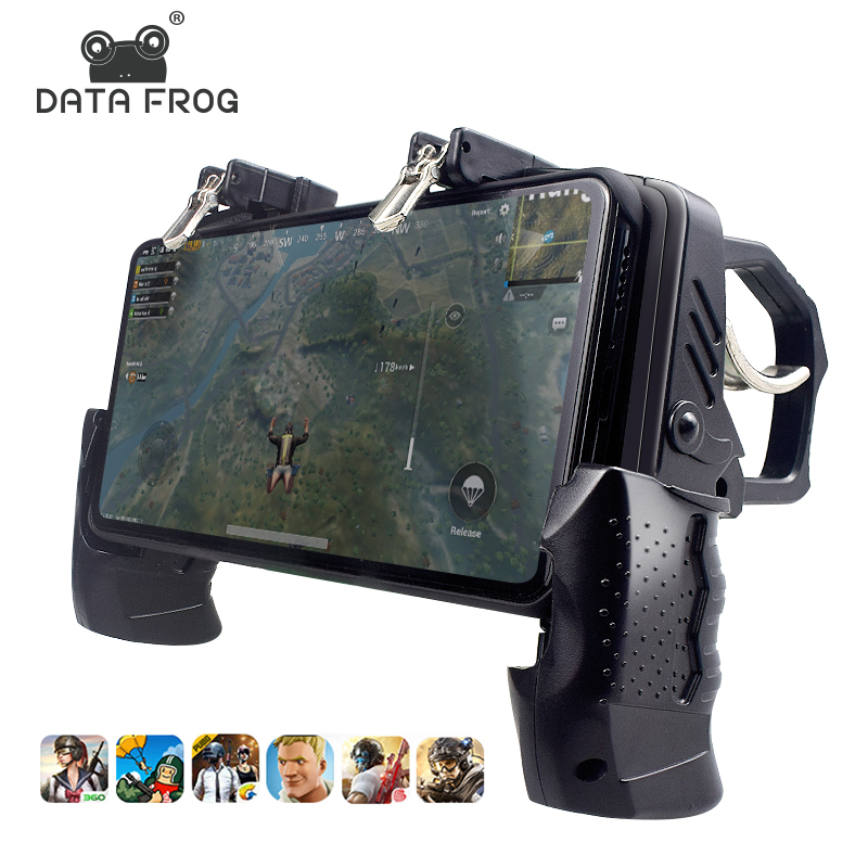 Data Frog Gamepad Joystick For PUBG Button Triggers Equipment Game Controller For IPhone Android Mobile Phone Joystick Gamepad