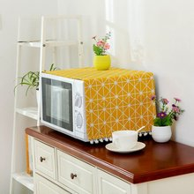 Cover Microwave-Towel Oven Home-Decor Hood Modern with Pouch Home-Supply Linen Dust-Proof