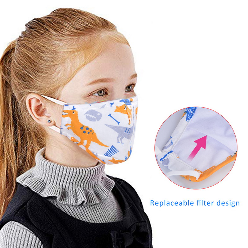 Cute Mouth Mask PM2.5 Anti Haze Replaceable Filter-slice 5 Layers Non-woven Child Kids Activated Carbon Filte Mouth Mask